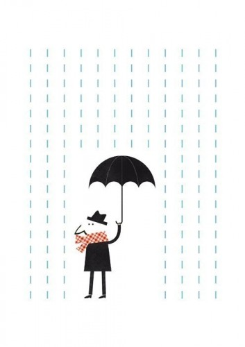 affiche etsy it's raining