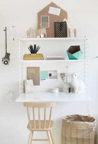 bureau parfait, bureau blanc, bureau trteaux, bureau fille, 